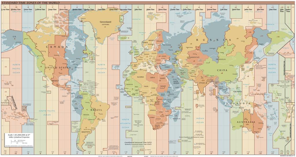 UTC Time Zone Map